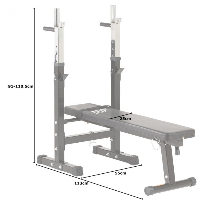 Folding Weight Bench Dip Station Bench Press Rack Mirafit