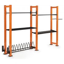 Mirafit 2 Bay Gym Storage System on White Background