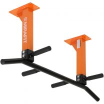 Mirafit M1 3 Position Black and Orange Ceiling Pull Up Bar on White Background