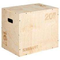 Mirafit Wooden Plyo Box 24x20x16 on White Background