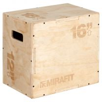 Mirafit 3in1 Wooden Plyo Jump Box 18x16x12 on White Background