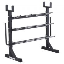 Mirafit Studio Pump Set Storage Rack on White Background