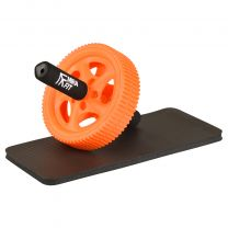 Mirafit Orange Power Ab Roller and Knee Pad on White Background