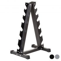 Black Mirafit Vertical Dumbbell Stand on White Background