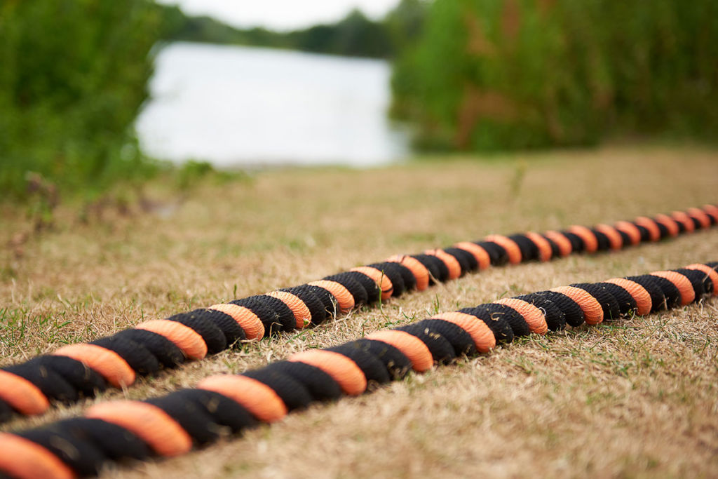 mirafit battle ropes set up outside